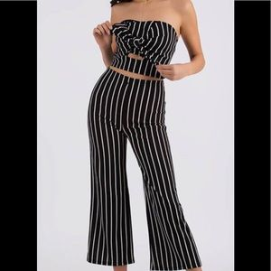 Pants - Pretty In Pinstripes Top And Pant Set 🔥